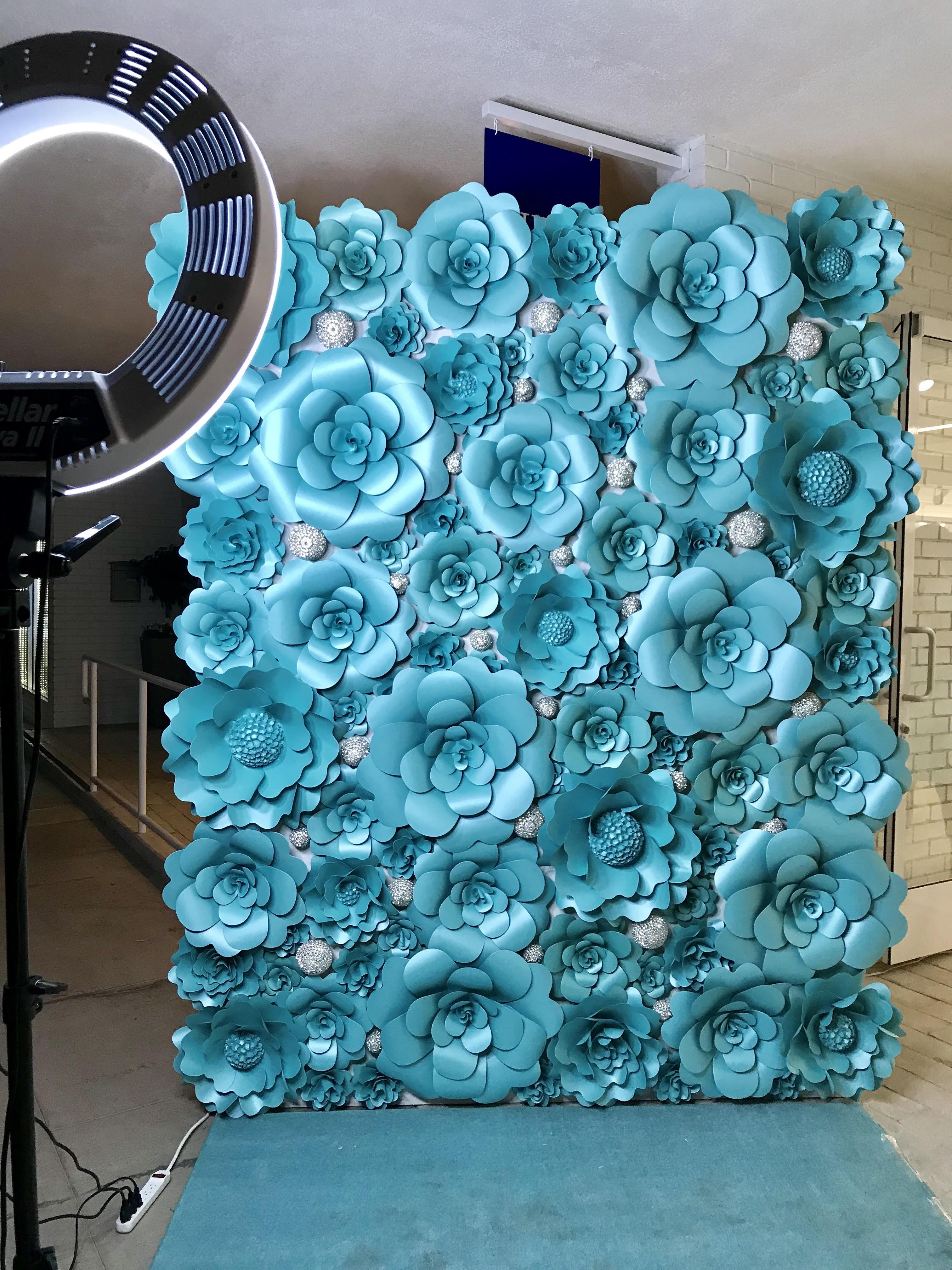 Tiffany blue with jewels flower wall 26 mahi rehan home rental flower wall izmirmasajfo
