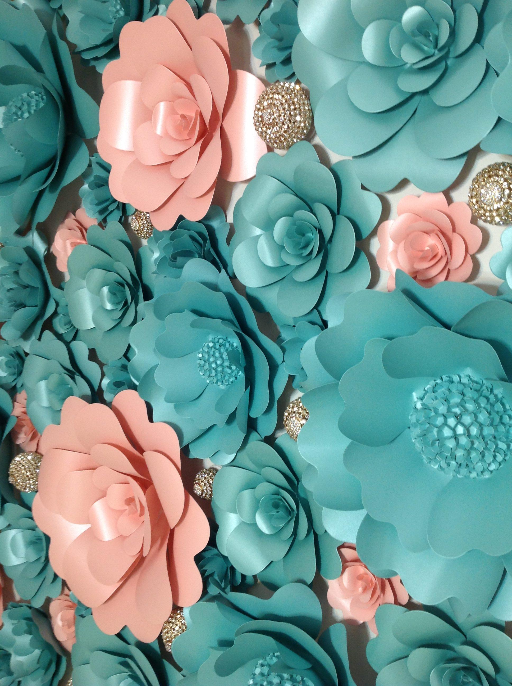Tiffany blue and light pink with jewels flower wall 32 mahi rehan home rental flower wall izmirmasajfo