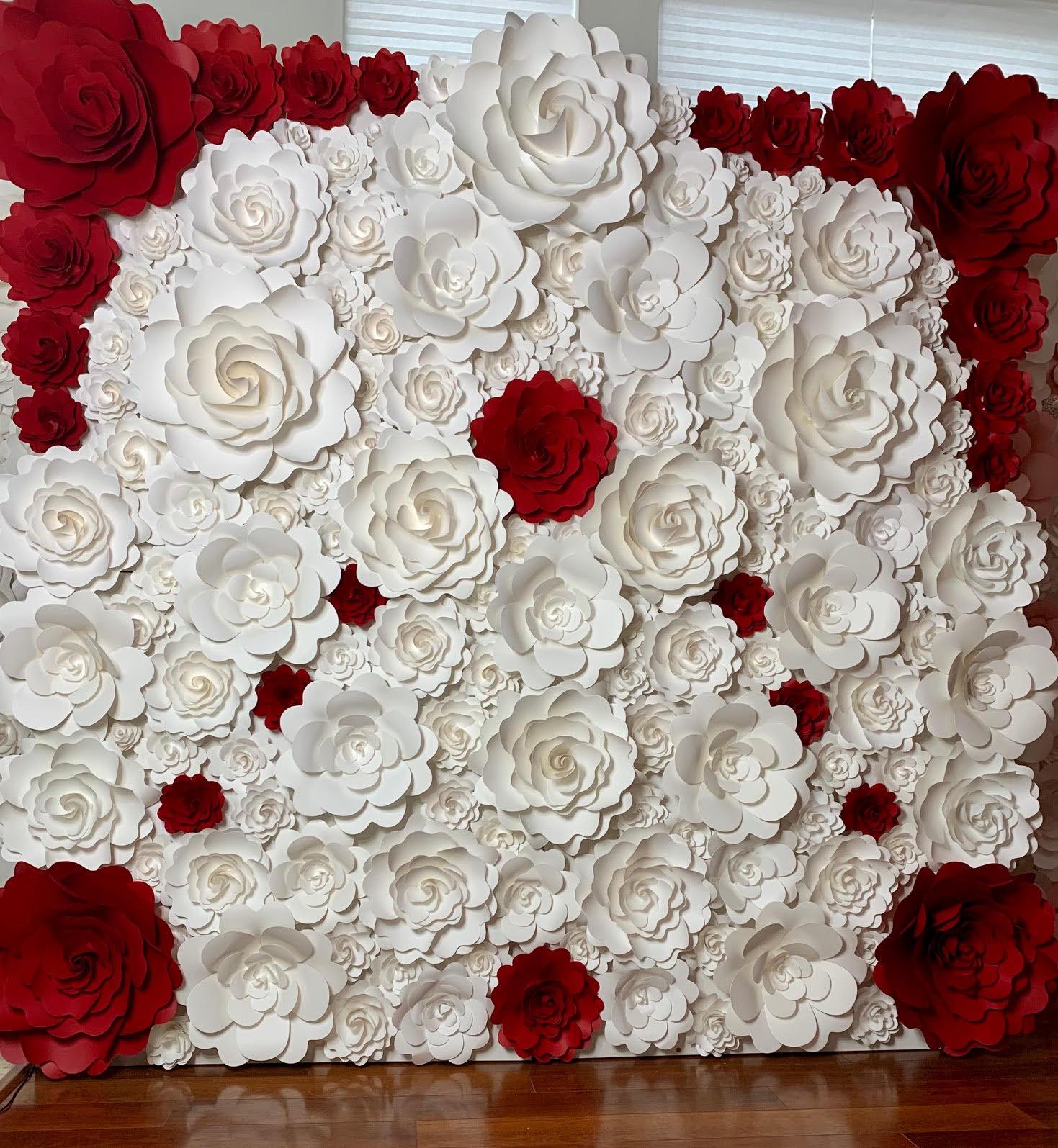 Trade Show Floral Wall White Red 68 Mahi Rehan